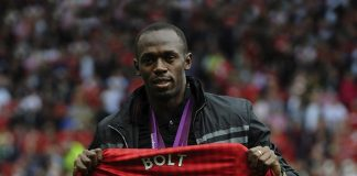 Usain Bolt Manchester United,Manchester United,Jamaican sprinter with Manchester United,Bolt's appointment with football,Bolt's with football