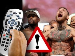 Floyd Mayweather vs McGregor,Conor McGregor three million viewers,Irdeto history of combat sports,mayweather vs mcgregor fight,239 illegal streams