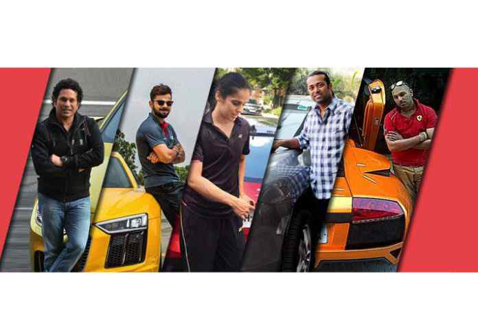 Indian sports stars and their cars,Indian Sports Stars on the hot wheels,Indian Sports Stars,Virat Kohli Car,sachin sindhu car