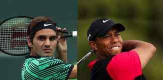 Roger Federer and Tiger Woods