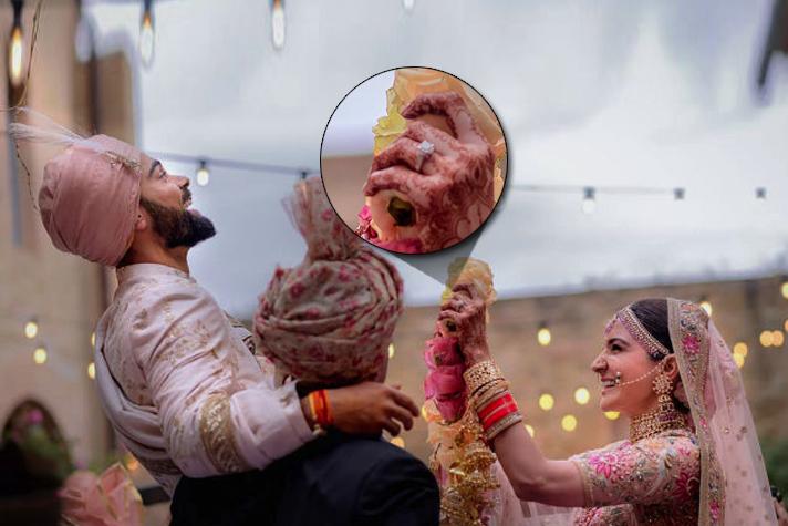 Anushka's wedding ring from Virat - InsideSport