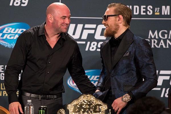 UFC President Dana White with Conor McGregor - InsideSport