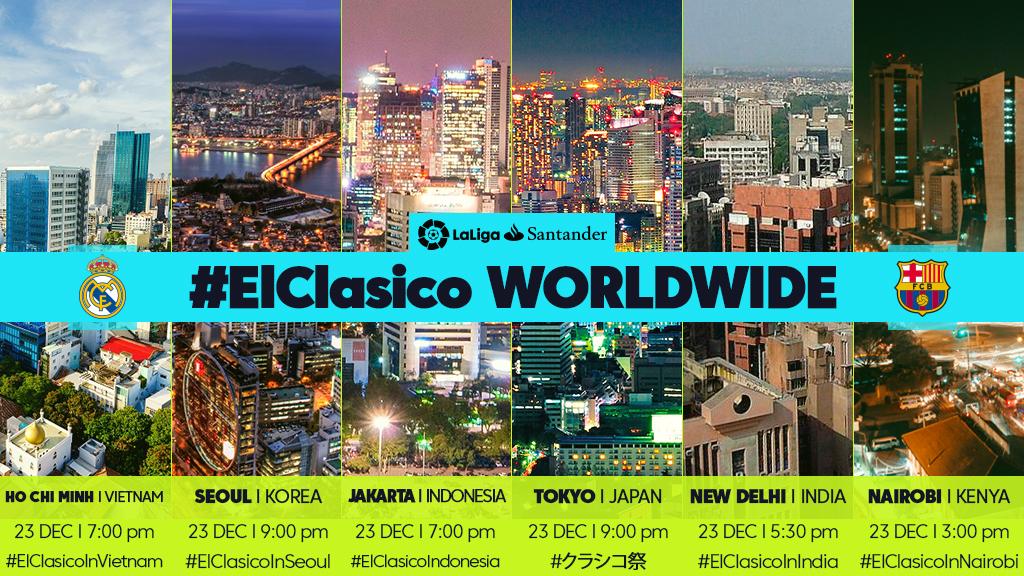 El Clasico timings wordwide - InsideSport