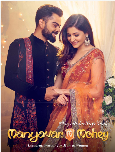 Manyavar-Mohey endorsed by Virat-Anushka