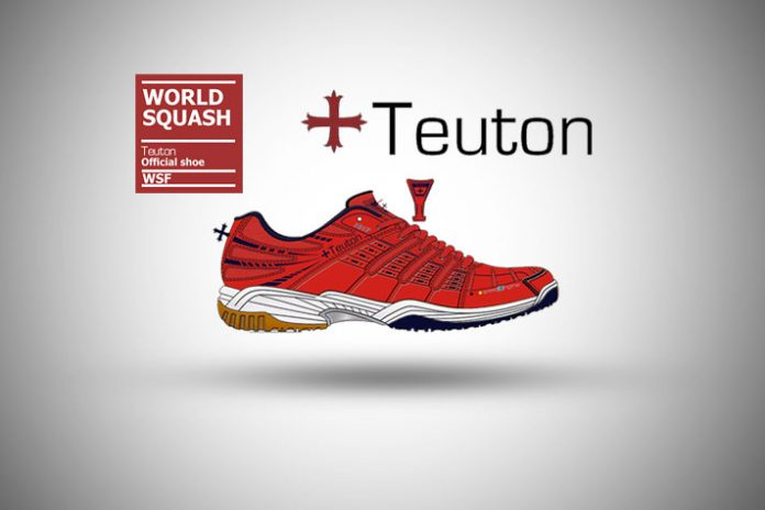 World Squash Federation,Teuton Shoes partnership World Squash Federation,performance footwear brand teuton,Teuton Sports,indoor shoes