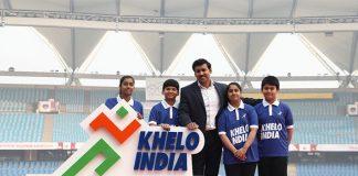 Sports Minister Rjyavardhan Singh Rathore with new Khelo India Logo - InsideSport