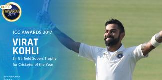 ICC 2017 Awards,Virat Kohli,Virat Kohli ICC Cricketer,ICC Cricketer of the Year 2017,ICC 2017 Awards