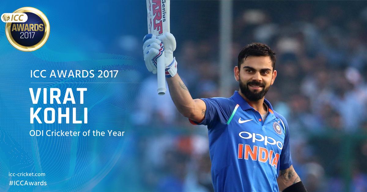 Virat Kohli - ICC ODI Cricketer of the year 2017 - InsideSport