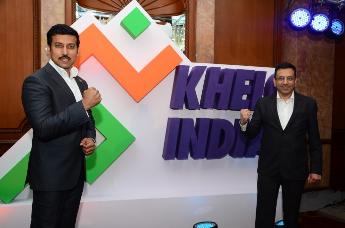 Sports Minister Rajyavardhan Singh Rathore with Star India MD Sanjay Gupta - InsideSport