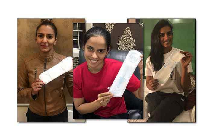 Geeta Phogat PadMan challenge,Babita Phogat PadMan challenge,Saina Nehwal PadMan challenge,PadMan challenge,padman