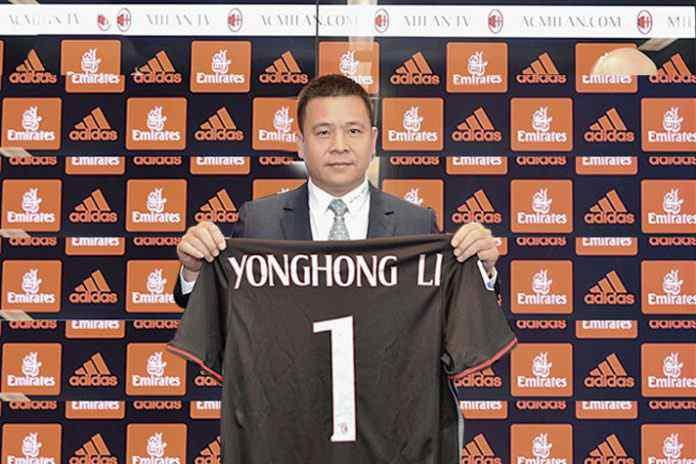 Yonghong Li, Chinese Businessman and owner of AC Milan who has declared himself bankrupt - InsideSport