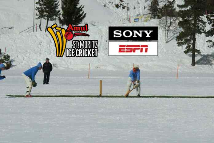 ice cricket broadcasting rights,ice cricket Sony ESPN,st moritz frozen lake,st moritz lake,st moritz ice cricket