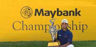 Shubhankar Sharma with his trophy at Maybank Championship 2018 at Kuala Lumpur, Malaysia - InsideSport
