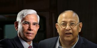 BCCI CoA chief Vinod Rai (Left) and BCCI Acting Secretary Amitabh Choudhary (Right): Threat looms on players contracts with CoA office bearers on warpath - InsideSport