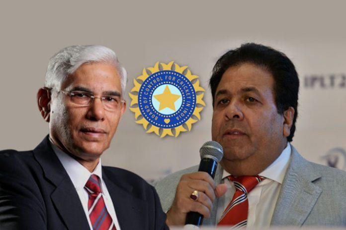 BCCI CoA Chief Vinod Rai (Left) and IPL Chairman Rajeev Shukla (Right): After targeting BCCI office-bearers, CoA seeks exit of Rajiv Shukla - InsideSport