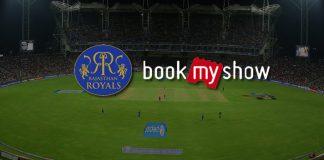 IPL 2018: Rajasthan Royals book bookmyshow for IPL ticketing service - InsideSport