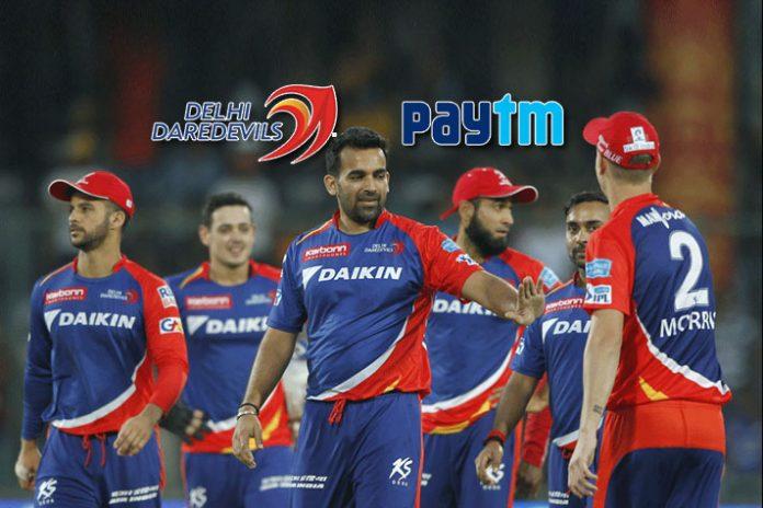 ticketing partner delhi daredevils,delhi daredevils match tickets,paytm,delhi daredevils,ipl 2018