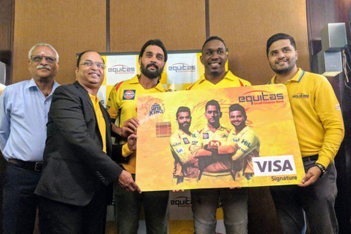 equitas small finance bank,yellow army savings account Dwayne Bravo,indian premier league CSK,ipl 2018 Chennai Super Kings,chennai super kings