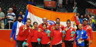 Gold Medal: Indian women's table tennis team at Gold Coast 2018 Commonwealth Games - InsideSport