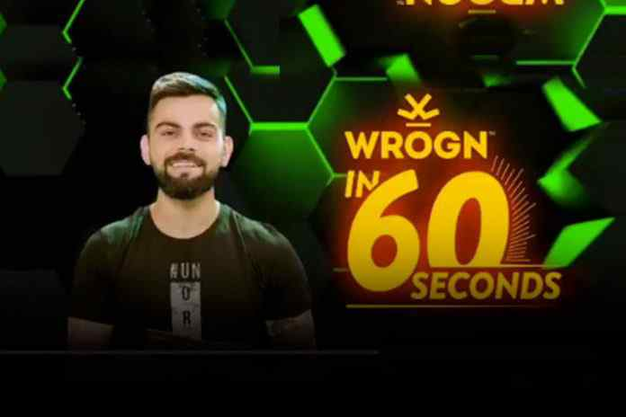 #wrognin60seconds,wrogn Virat Kohli,Royal Challengers Bangalore,Brendon McCullum,virat kohli quiz show