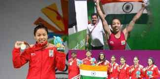 saikhom mirabai chanu,commonwealth games gold medal winner,mirabai chanu Gold Medal,gold coast 2018 commonwealth games,gold coast 2018