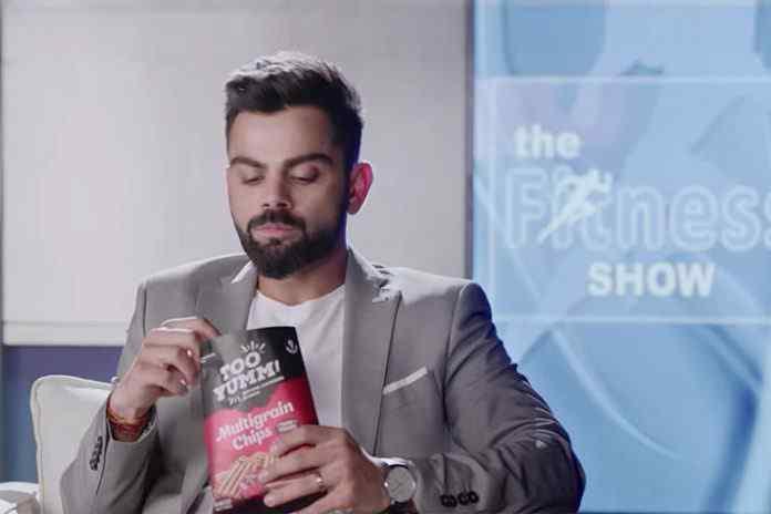 virat kolhi too yumm,too yumm chips,too yumm multigrain chips,too yumm virat kohli,virat kohli