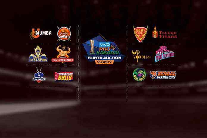 PKL AUCTION,Vivo Pro Kabaddi League auction,League auction process,The two-day Vivo Pro Kabaddi,PKL teams and financial