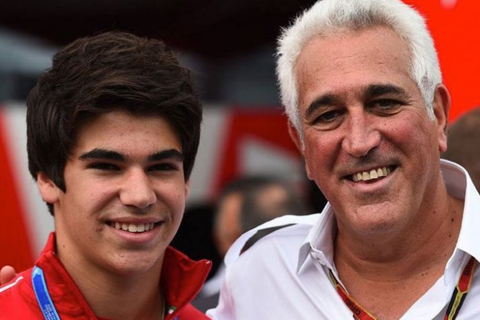 Williams Formula 1 driver Lance Stroll with his billionaire father Lawrence Stroll