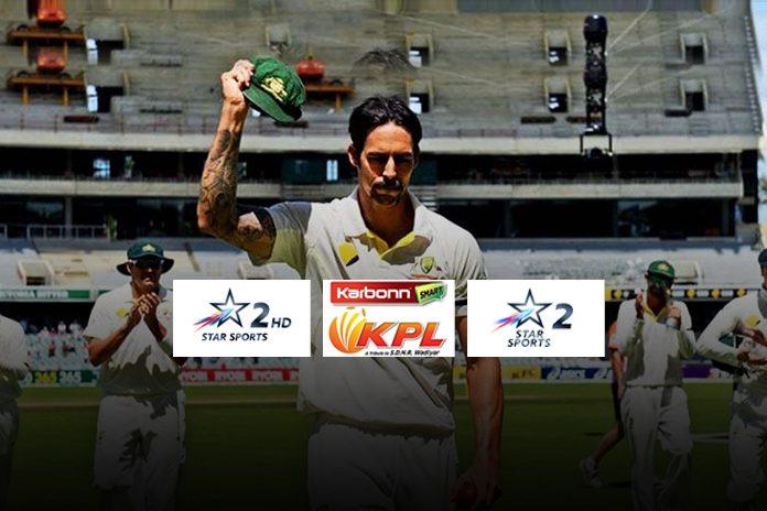 Mitchell Johnson star sports,Star Sports KPL 2018,Karnataka Premier League 2018 news,star sports kpl 2018 news,Star Sports 2 Star Sports 2 HD KPL 2018