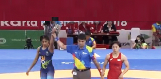 Vinesh Phogat asian games 2018,Asian Games 2018 Wrestling India,vinesh phogat gold medal,asian games 2018 day 2 live updates,Vinesh Phogat Bajrang Punia Gold Medal