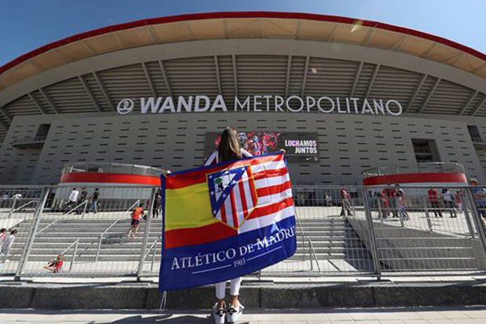 Atlético de Madrid hime stadium Wanda Metropolitano