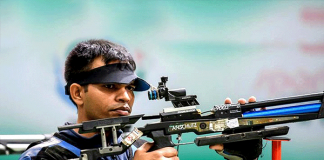 asian games 2018 day 2 updates, asian games 2018 shooting live score, Asian Games 2018 live update, 10m air rifle shooting asian games, shooter Deepak Kumar silver medal