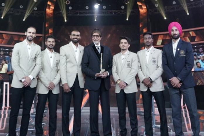 Amitabh Bachchan Hockey,Odisha Hockey men's World Cup 2018,indian hockey team on kbc,indian hockey team on kbc,indian hockey team,hockey men's world cup 2018