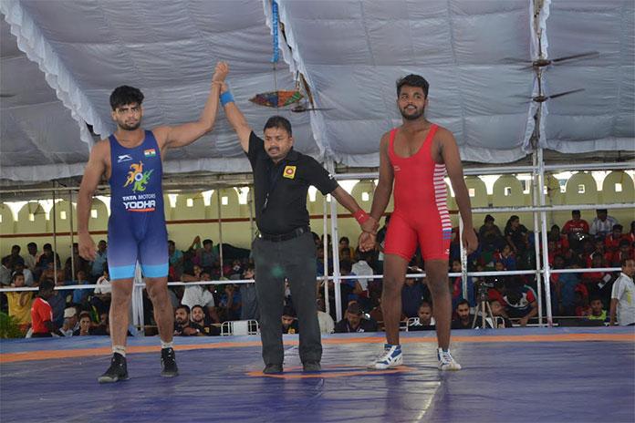 6a1b13ddd4b8 Tata Motors U-23 Wrestling  Services dominate with Haryana