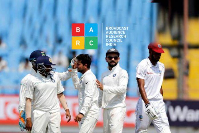 Star Sports 1 Hindi,BARC Star Sports 1 Hindi,Star Sports 1 Hindi BARC rating,Broadcast Audience Research Council,India West Indies Test Series