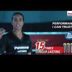 PV Sindhu panasonic batteries,pv Sindhu Panasonic Video,panasonic video pv sindhu,PV Sindhu commercial ads,panasonic batteries