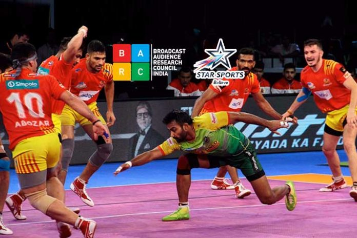 Pro Kabaddi BARC Rating,Indian Super League,BARC ratings pro kabaddi,star sports BARC Rating