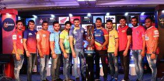 Vivo Pro Kabaddi League,Pro Kabaddi Season 6,PKL Season 6 trophy,PKL fanfare in Chennai,Haryana Steelers Monu Goyat