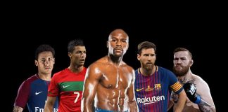World top 5 Highest Paid Athletes,Top 5 Highest Earning Sport Stars,Lionel Messi highest earning stars 2018,Cristiano Ronaldo HighestEarning Sports Stars,Floyd Mayweather World's HighestEarning Sports Stars2018