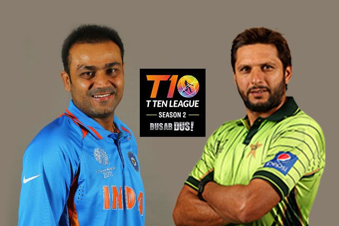 emirates cricket board,virender sehwag T10 Cricket,T10 Cricket Shahid Afridi,t10 cricket league season 2,International Cricket Council