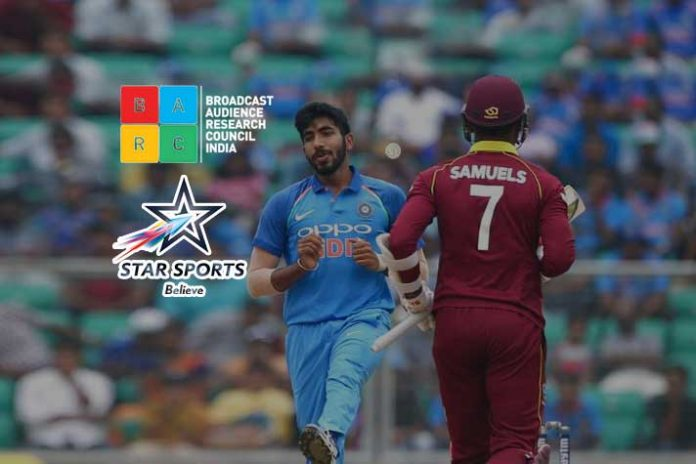 Star Sports 1 Hindi BARC,BARC Ratings Star Sports,India West Indies T20I,Star Sports Barc Ratings,Broadcast Audience Research Council