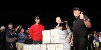 Woods Mickleson Match,Mitchelson $ 9 Million,Golf $ 9 million jackpot,Phil Mickelson Jackpot,Tiger Woods Match