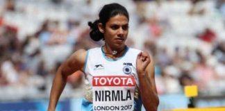Athletics Federation of India,Nirmala Sheoran dope test,Indian athletes failed doping test,WADA,World Anti-Doping Agency