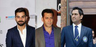 Forbes Top 100 celebrities,Virat Kohli earning,Salman Khan earning,Forbes Top 100 Indians,Mahender Singh Dhoni earning