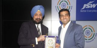 NRAI JSW Partnership,JSW Group Partnerships,National Rifle Association of India,Tokyo 2020 Olympics,Parth Jindal JSW Group