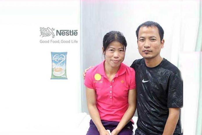 Mary Kom Nestle,Mary Kom husband,Nestle Dairy Whitener Everyday,Nestle Everyday,Meri Kom World Boxing Championship
