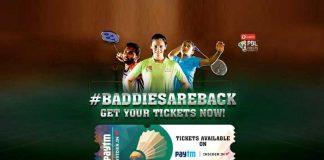 PBL Tickets online,Premier Badminton League,PBL Season 4 Tickets online,PBL official ticketing partner,Sportzlive PBL tickets