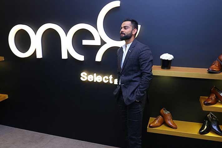 Kohli's brand One8 opens with a rare