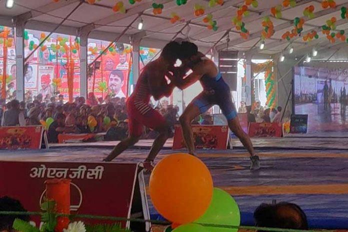 National Wrestling Championship,Tata Motors National Wrestling,Wrestling Nandini Nagar,National Wrestling Attendance,Tata Motors Wrestling