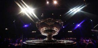 Kosmos Tennis,ITF,Davis Cup trophy,FIFA World Cup,Davis Cup Trophy case